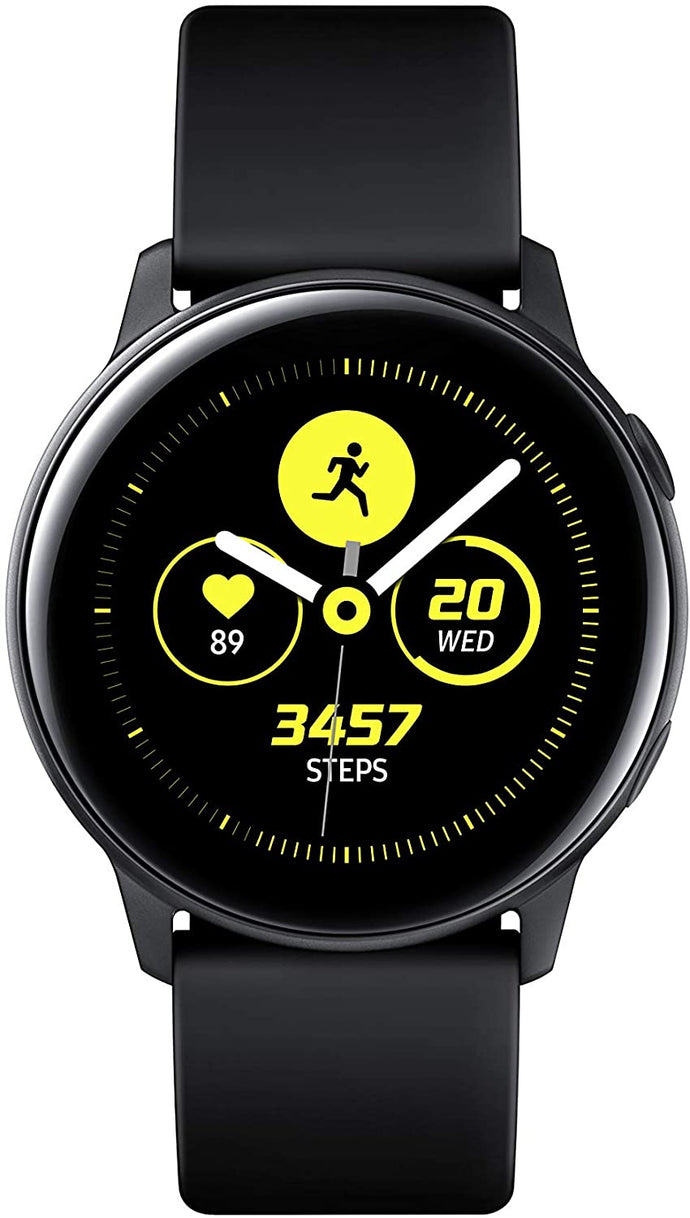 Samsung Galaxy Watch Active (40mm, GPS, Bluetooth), Black - US Version with Warranty