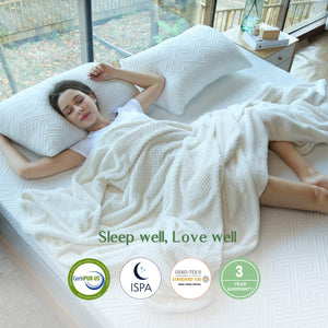 Novilla Mattress Topper Queen, 3 Inch Dual Layer Memory Foam Mattress Topper Enhance Cooling,Supportive & Pressure Relieving,with Washable Bamboo Cover,Queen Size