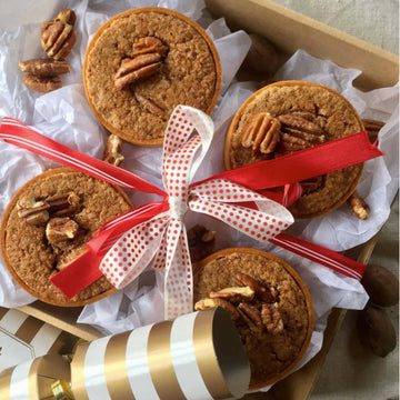 Hand-made Mini Caramel Pecan Pies