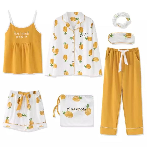 7 Piece Pajama Set