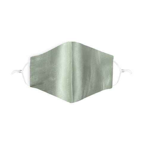 Pale Green 100% Silk Face Mask