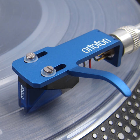 Ortofon 2M Blue Moving Magnet Cartridge Mounted on SH-4 Headshell