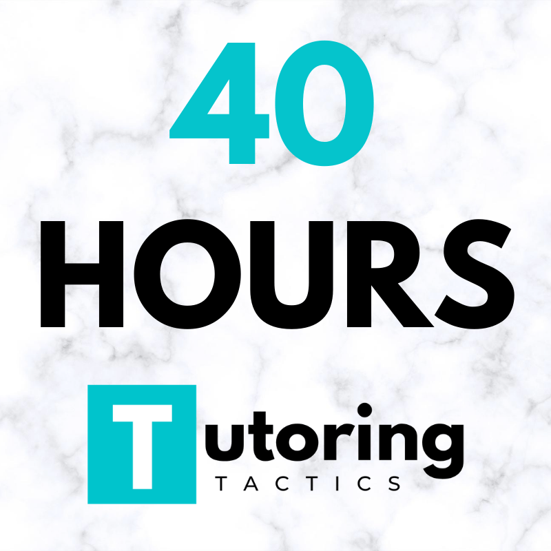 ACADEMIC TUTORING - 40 HOURS