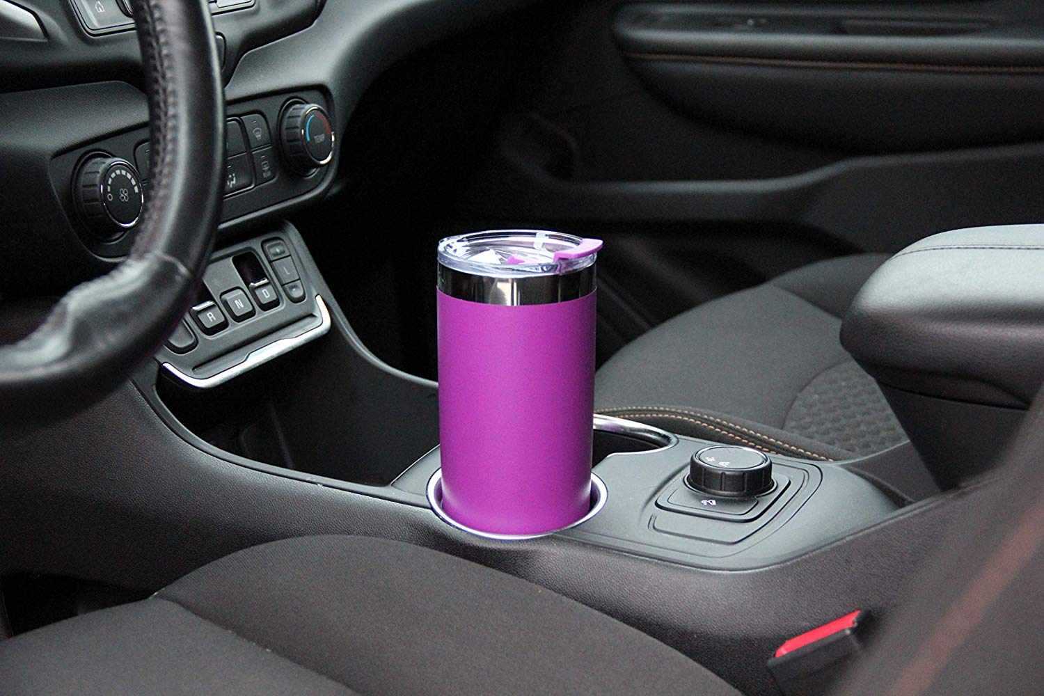 DRINCO®  20oz Insulated Tumbler w/Spill Proof Lid, 2 Straws(Purple)
