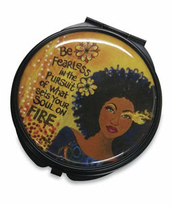 Set My Soul On Fire Pocket Mirror