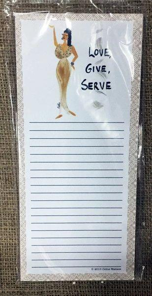 Love Give Serve Magnetic Note Pad