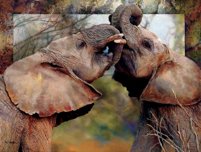 Smoochin Eles Puzzle By Val Warner