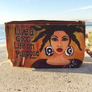 Live A Good Life Cosmetic Pouch by 'Gbaby'Cohen