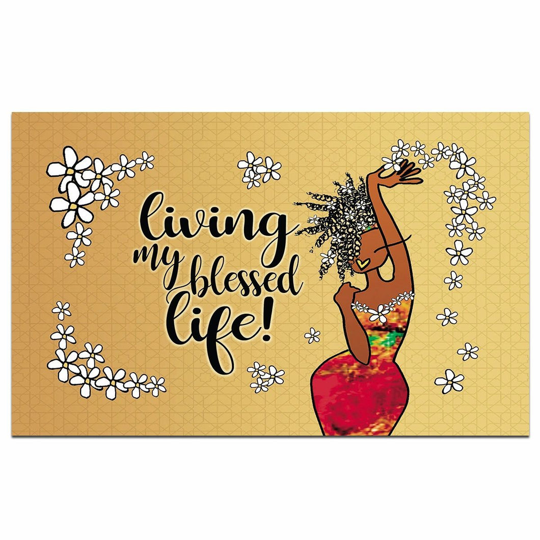 Living my Blessed Life Interior Floor Mat