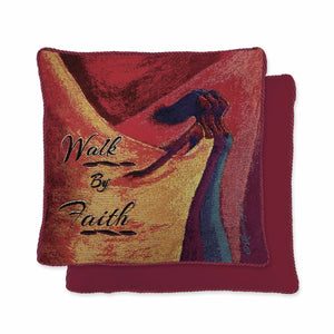 Walk By Faith Woven Pillow Covers