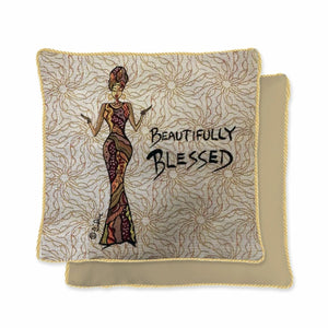 Beautifully Blessed Woven Pillow Cover