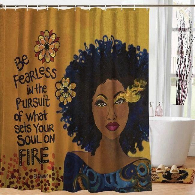 Soul On Fire Shower Curtain by Sylvia Cohen