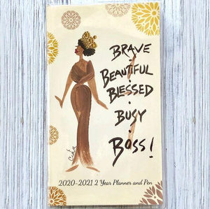 Brave, Beautiful, Blessed, Busy Boss!' 2020-2021 Planner