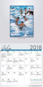 2018 African American Wall Calendar with Genuine Black Art Matching Gift Envelope To Preserve Your Calendar Includes Black History Facts All Year Round