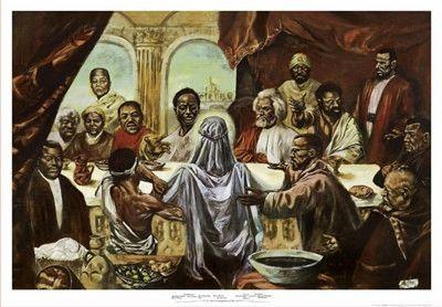 Last Supper print by Cornell Barnes