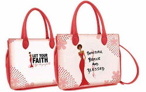 Beautiful, Brave and Blessed African American Bible Bag