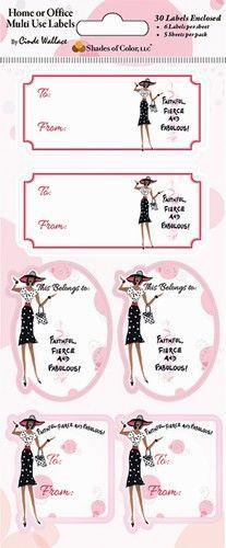 Faithful Fierce and Fabulous Multi Use Labels