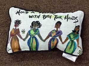 Hold A Friend Pillow By Cinde Wallace