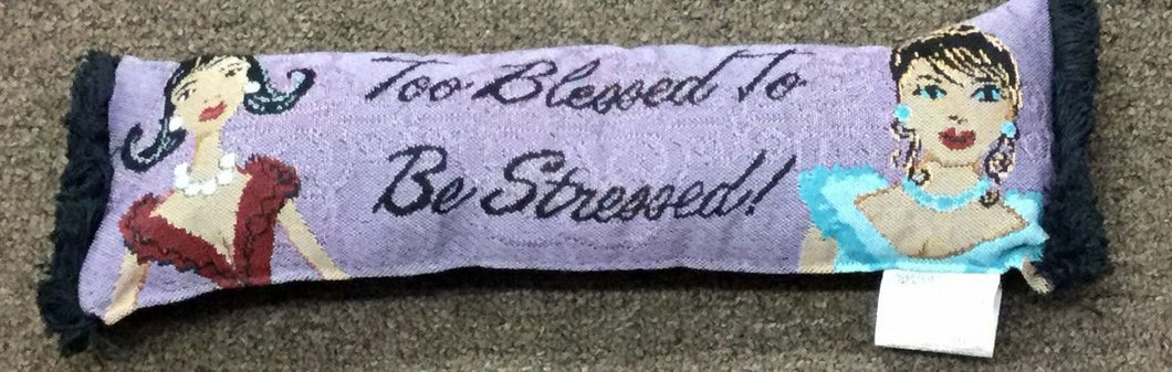 To Blessed To Be Stressed Pillow 2