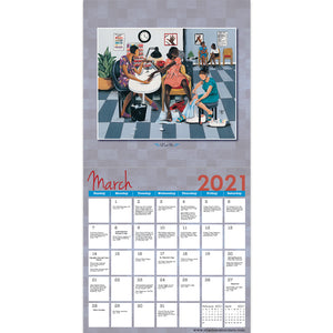 2021 African American Wall Calendar with Genuine Black Art Matching Gift Envelope To Preserve Your Calendar Includes Black History Facts All Year Round