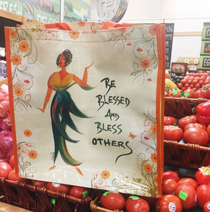 Be Blessed and Bless Others Reusable Bag