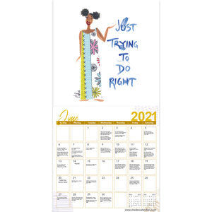 """2021"" Girlfriends, A Sister's Sentiments Calendar"