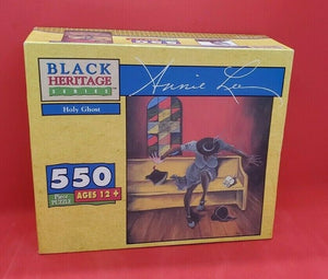 "Brand new in factory sealed box, GEEBEE Black Heritage Series 550 piece puzzle ""Holy Ghost"" featuring the work of artist Annie Lee."
