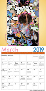 2019 Shades of Color Kids Calendar