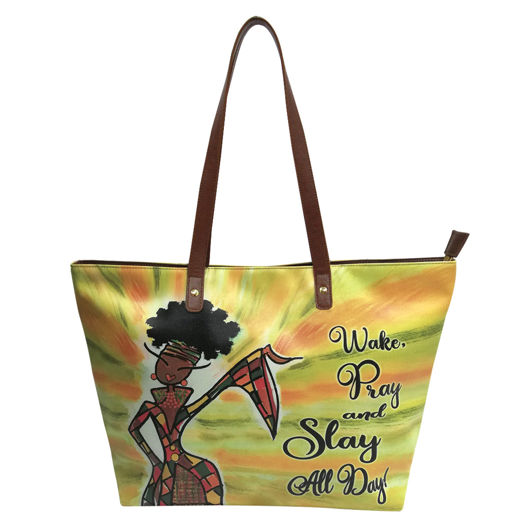 Wake, Pray & Slay All Day Handbag
