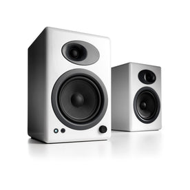 Audioengine A5+ Classic Powered Bookshelf Speakers, Hi-Gloss White (Pair)