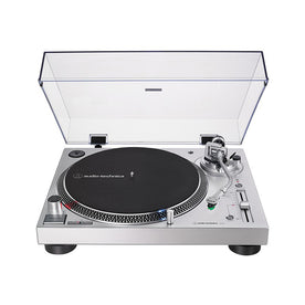 Audio-Technica AT-LP120XUSB Direct-Drive Turntable, Silver (Analog & USB)