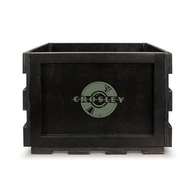 Crosley Record Storage Crate, Black