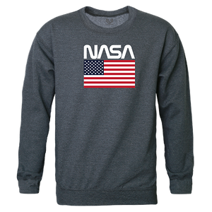 NASA And USA Flag Crewneck Sweatshirt