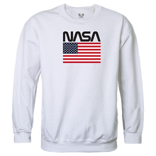 Load image into Gallery viewer, NASA And USA Flag Crewneck Sweatshirt