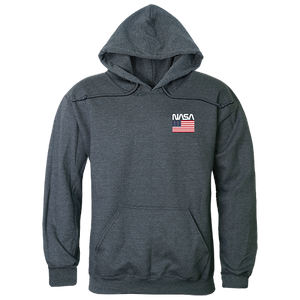 Small NASA And USA Flag Pullover Hoodie