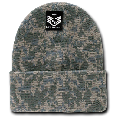Classic style camouflage beanie