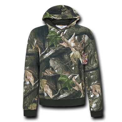 Grey Bark Camouflage Pullover Hoodie