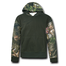 Load image into Gallery viewer, Grey Bark Camouflage Two Tone Pullover Hoodie