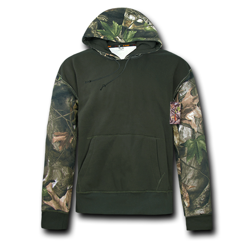 Grey Bark Camouflage Two Tone Pullover Hoodie