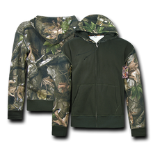 Load image into Gallery viewer, Camouflage Two Tone Zip Up Hoodie