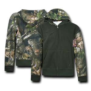 Camouflage Two Tone Zip Up Hoodie