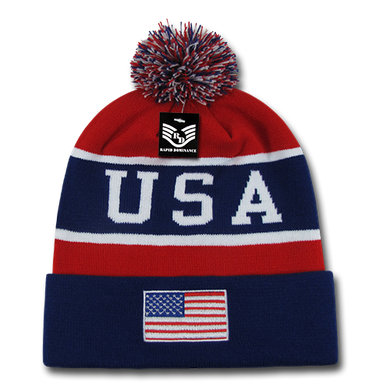 USA Flag Red, White, And Blue Beanie