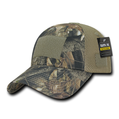 Grey Bark Camouflage USA Air Mesh Tactical Caps