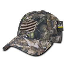 Load image into Gallery viewer, Grey Bark Camouflage USA Relaxed Tactical Caps