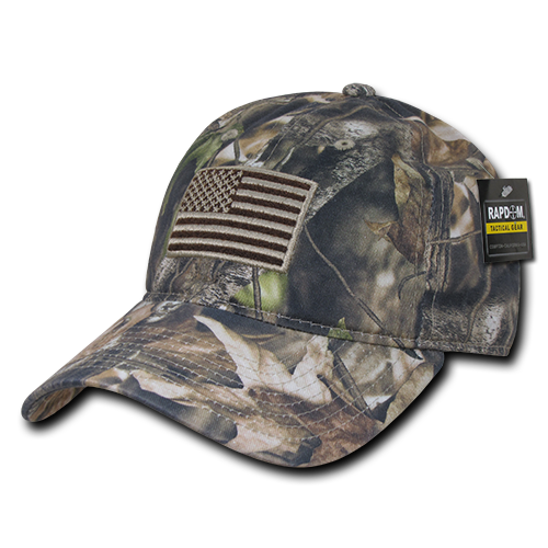 Grey Bark Camouflage USA Relaxed Tactical Caps