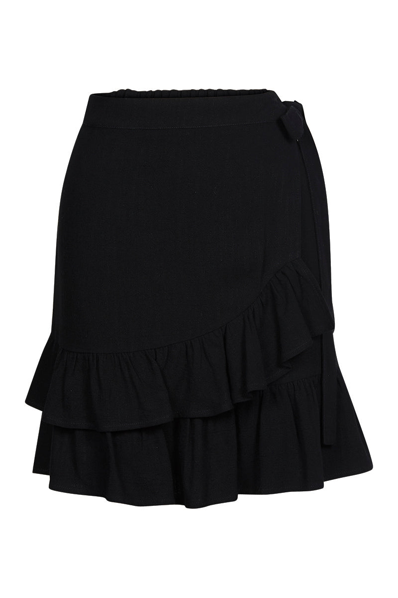 Ilona Skirt - Jet - Isle of Mine Clothing - Skirt Mid