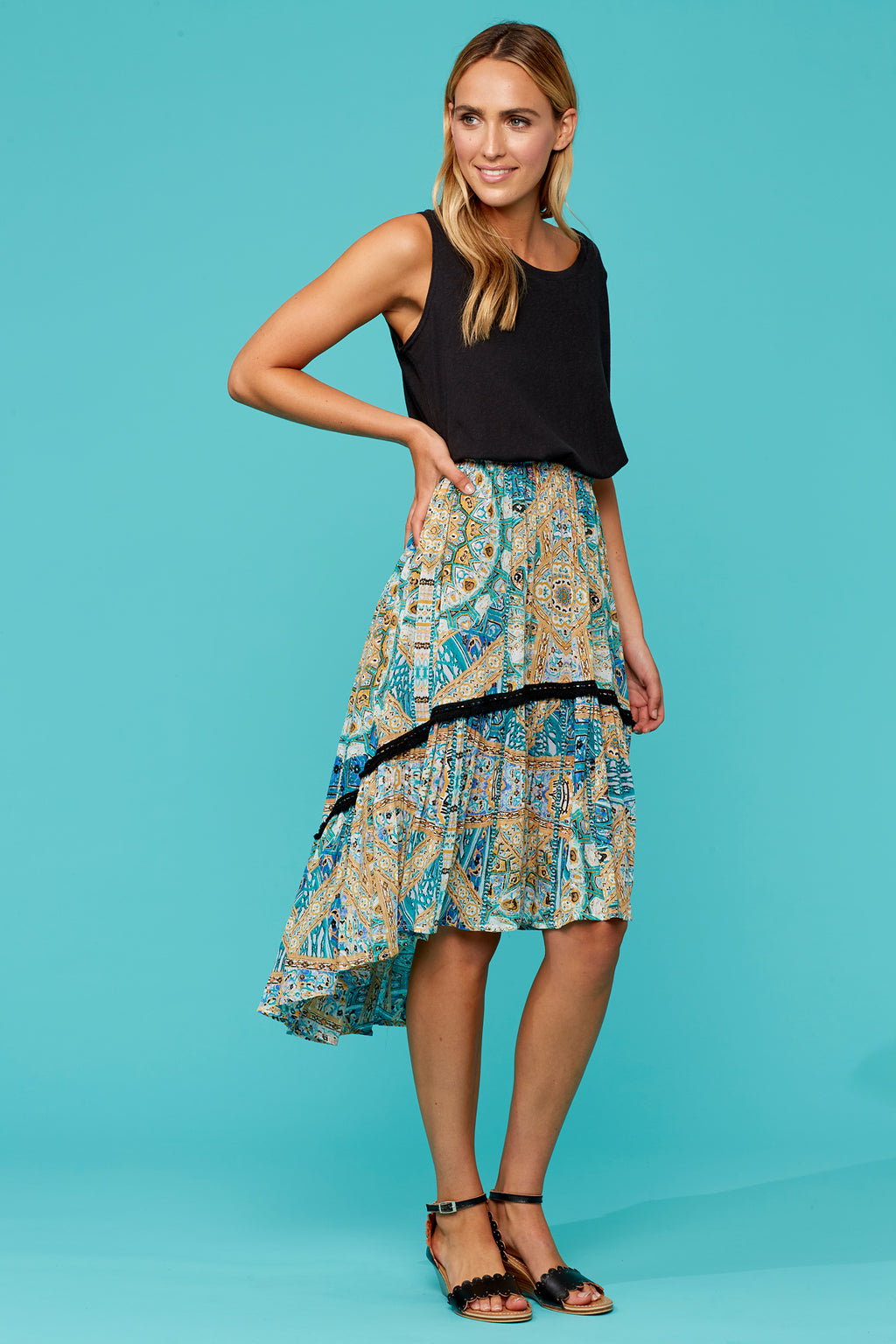 Elke Skirt - Mosaic - Isle of Mine Clothing - Skirt Maxi