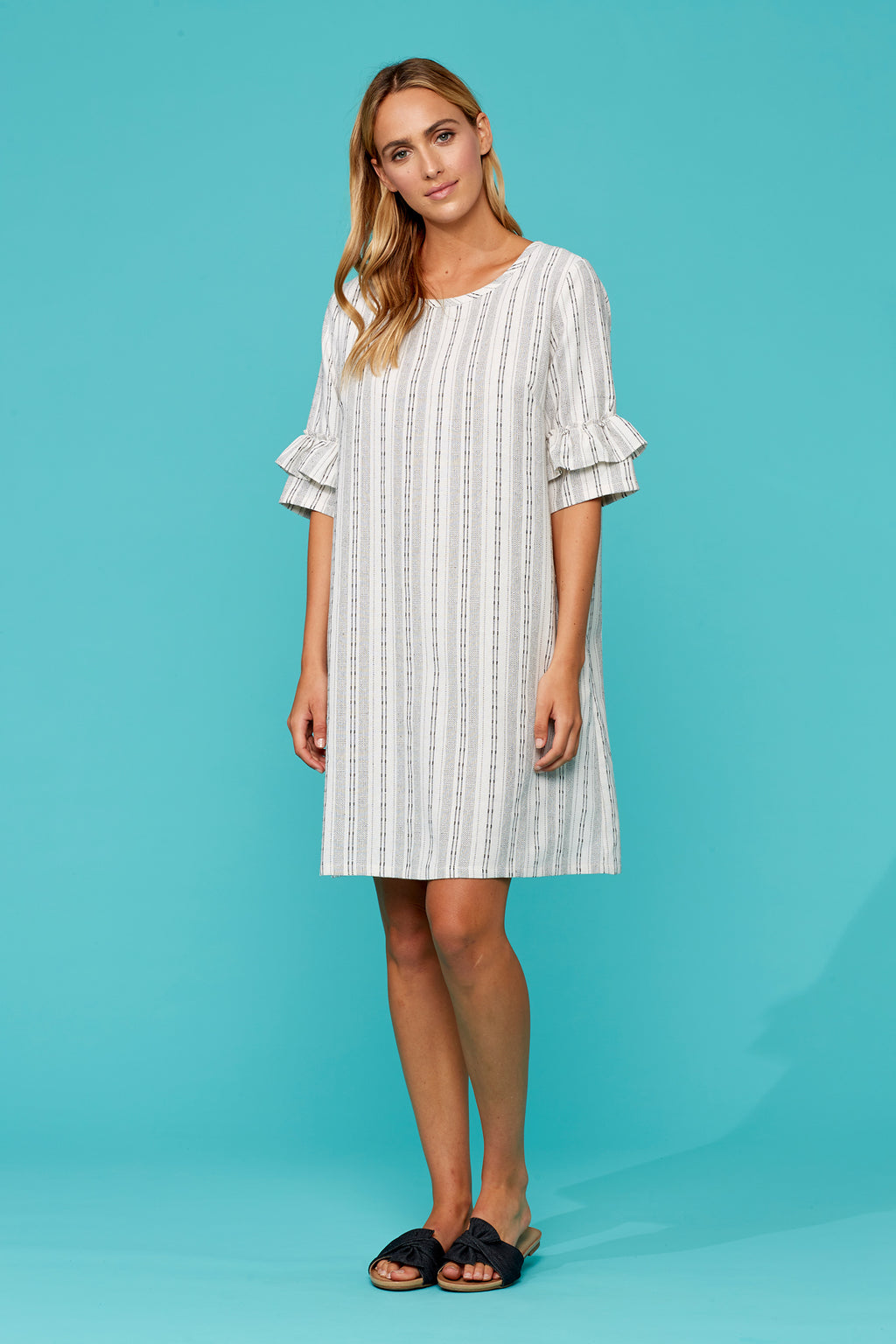 Anais Dress - Salt - Isle of Mine Clothing - Dress Mid