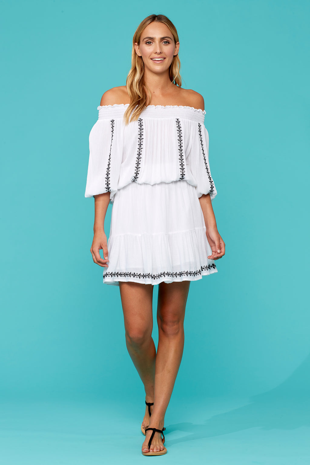 Marguerite Dress - Salt - Isle of Mine Clothing - Dress Mid