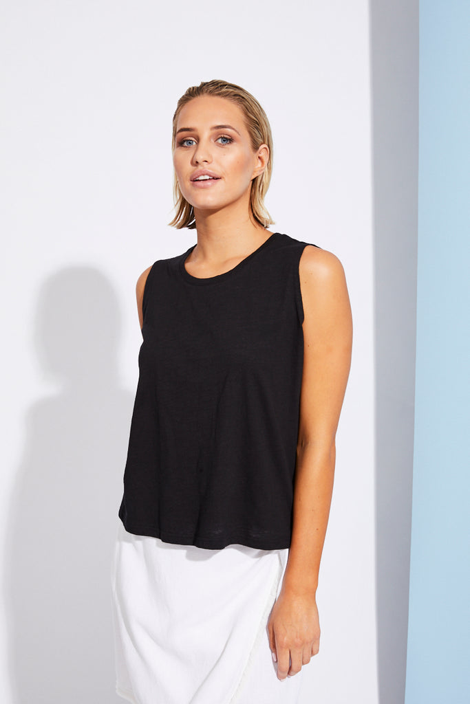Cote D'Azur Tank - Black - Isle of Mine Clothing - Top S/S